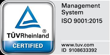 ISO9001:2015 TUV RHEINLAND